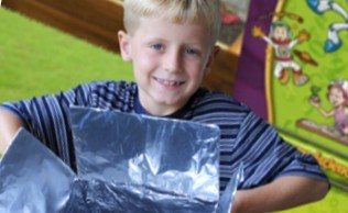 Camp solar cooker