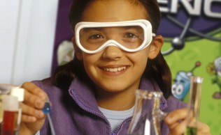 Workshop beaker chemist girl